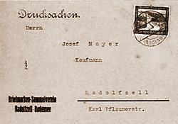 Postkarte aus dem Jahr 1937